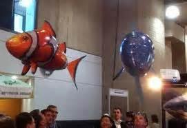 Robotic Flying Fish Rc Mainan Ikan Terbang Remote Air Swimmer Flying Fish Wow Ada Ikan Berenang Di Udara