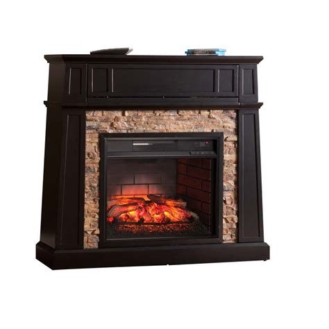 Infrared Media Fireplace by Southern Enterprises Crestwick Infrared Media Fireplace In Black Fi9344