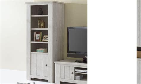 meuble bibliotheque contemporaine couleur bois blanc hodor