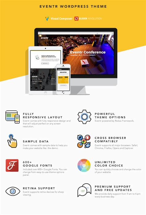 eventr one page event wordpress theme wonsterscript
