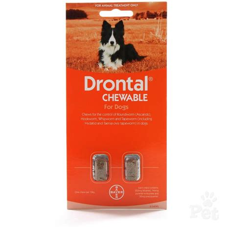 wormers drontal dogs drontal chewable wormer 10kg tablet