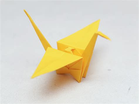 How To Fold An Origami Crane - simple origami paper crane comot