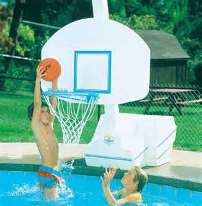 slam dunk pool basketball game set outdoor living