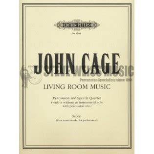 john cage living room music cage living room music s n4 p vx percussion ensemble