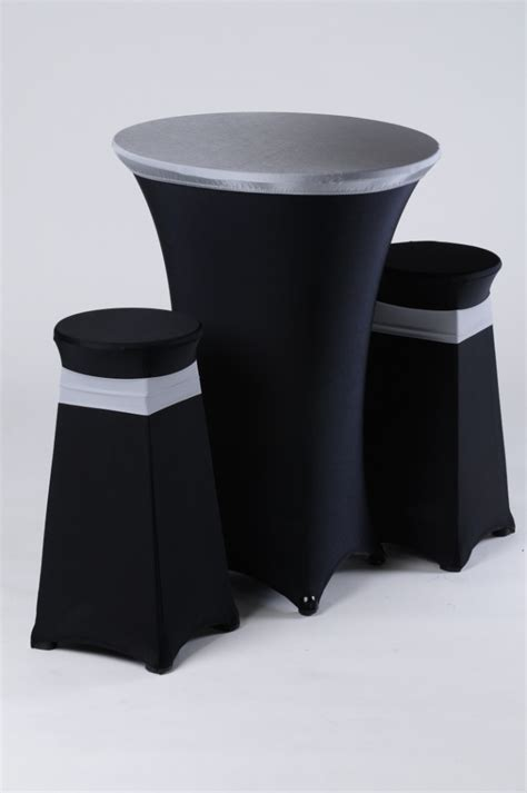 black and white bar stool cover 34 best events images on tablecloths table