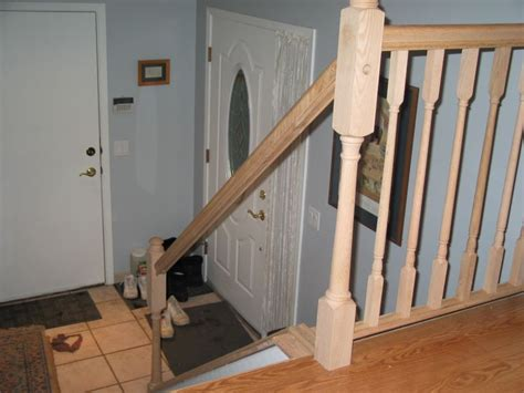 Install Banister stairs how to install stair railing easily wrought iron