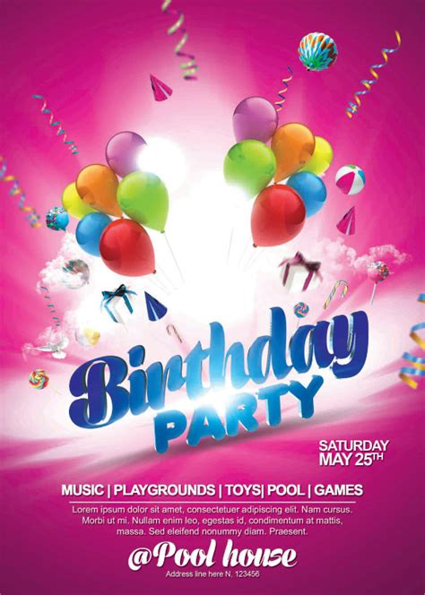 Birthday Flyers Templates by 25 Spectacular Birthday Flyers Templates Sle Templates