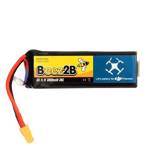 Batre Dji Phantom 3s Beez2b Batterie Lipo 3s 11 1v 3000mah 30c Pour Dji Phantom