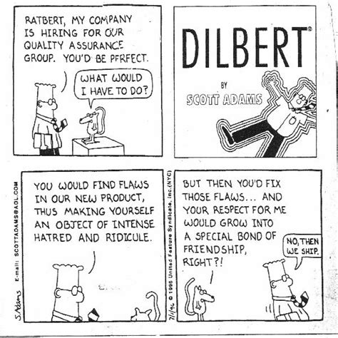 resume for career change to information technology dilbert on qa quality time