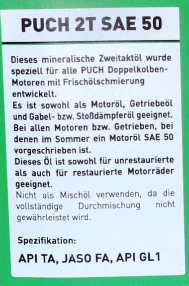 Puch Motorrad Teile Willhaben by Puch 2t Sae 50 20 Liter Einzigartig Auf Dem Markt