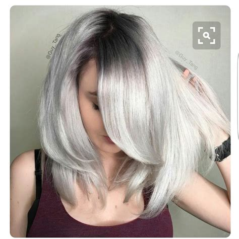 how to get icy silver hair icy blonde with dark roots pinteres