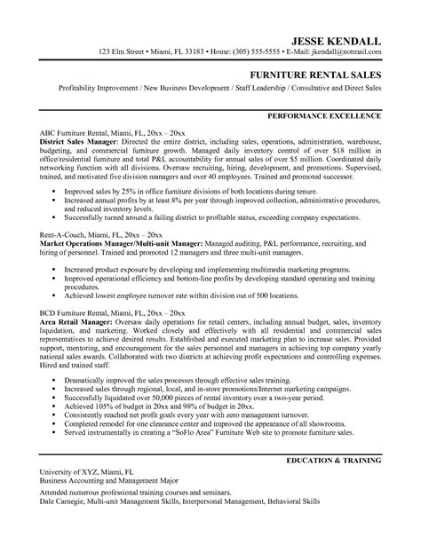resume sle retail store manager resume sles