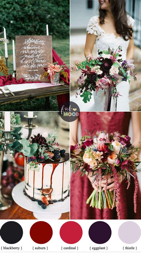 october wedding colors october wedding colours auburn blackberry eggplant