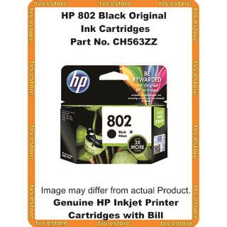 Murah Hp Cartridge 802 Black hp 802 black original ink cartridge ch563zz 3x more