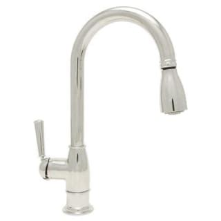 mirabelle kitchen faucets mirabelle mirxha102ss stainless steel pullout spray bar prep faucet with high arch gooseneck