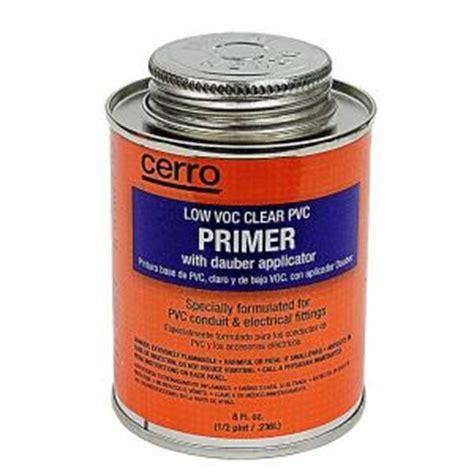 8 oz low voc clear pvc primer grey pvp8 the home depot