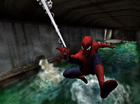 movies based on swinging spider man the movie ps2 playstation 2 game spider man