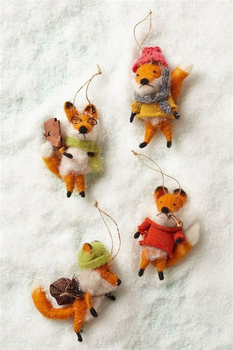 cottage fox ornament anthropologie com christmas