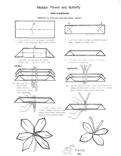 Dollar Origami Diagrams - origami flowers diagrams 2016