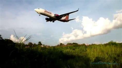 batik air hlp jog manuver batik air landing runway 27 jog youtube