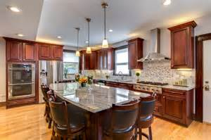 Granite Countertops With Cherry Cabinets Viscont White Granite Countertops With Cherry Cabinets