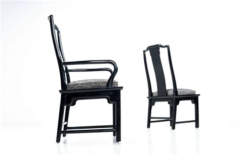 black lacquer dining room chairs black lacquer chin hua dining chairs by century for sale