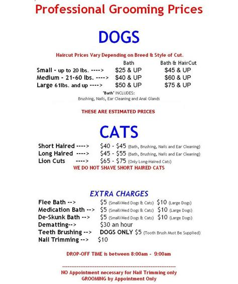 puppy price list best 25 grooming business ideas on