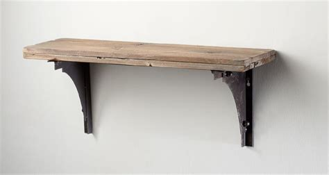 Simple Wall Shelf industrial rustic farmhouse style simple post wall shelf