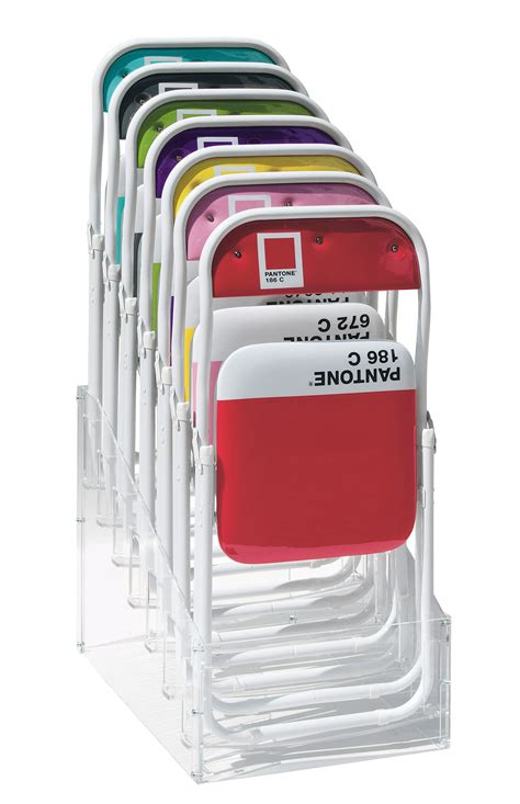 Pantone Chairs by Pantone Foldable Chair Plastic Metal Structure 186c Ruby By Seletti
