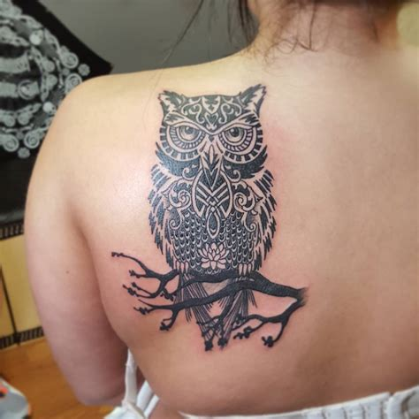 tribal tattoos for women on back 28 owl designs ideas design trends premium