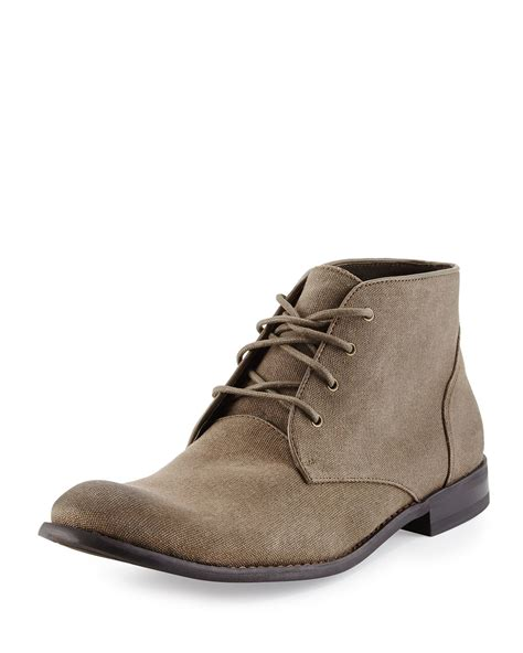 chukka boot lyst varvatos classic canvas chukka boot in brown