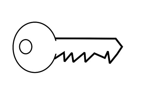 Key Outline Clip Free by Key Outline Clipart Clipart Panda Free Clipart Images