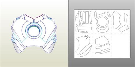 iron suit template iron irons and foam costumes on