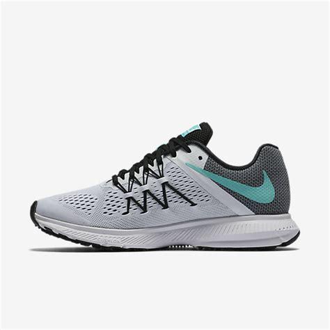nike zoom winflo 3 white black hyper turquoise shoes