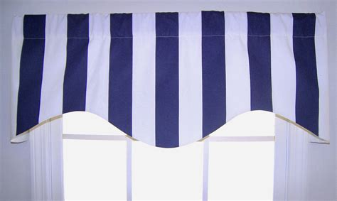 awning valance awning striped shaped valance in navy