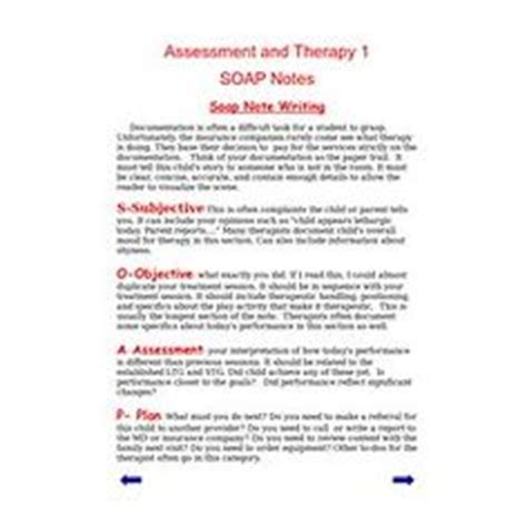 Pinterest The World S Catalog Of Ideas Soap Note Template Occupational Therapy