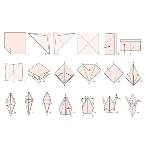 Origami Crane Diagram - how to make an origami crane for your wedding martha