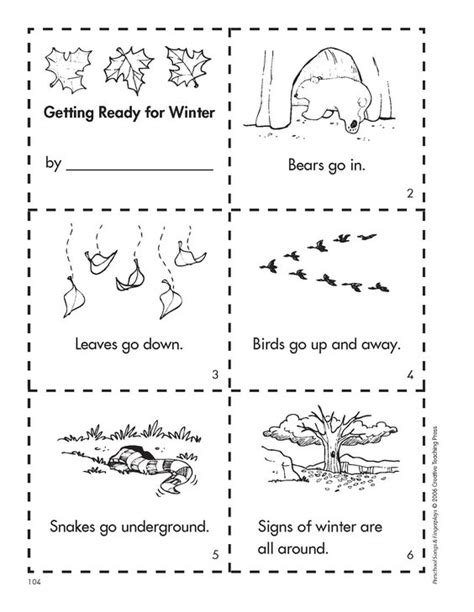 kindergarten activities on hibernation get ready for winter with this free minibook reproducible