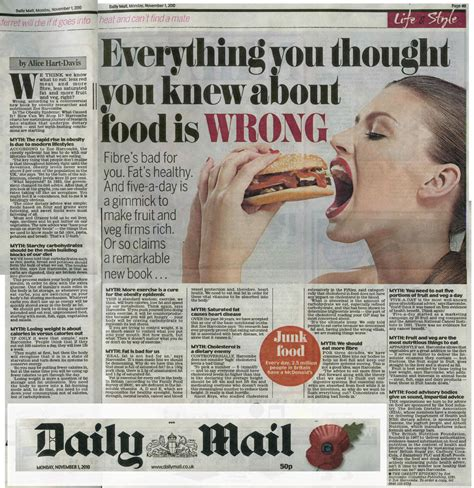 food sections in newspapers media zo 235 harcombe