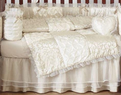 cream crib bedding cream luxury damask crib bedding set baby girl pinterest