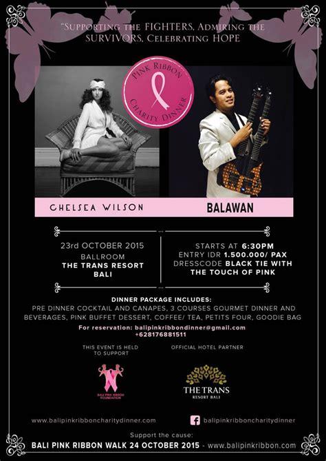 Bali Ribbena Pink bali pink ribbon charity dinner now bali