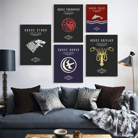 game  thrones  tv poster vintage wall art canvas