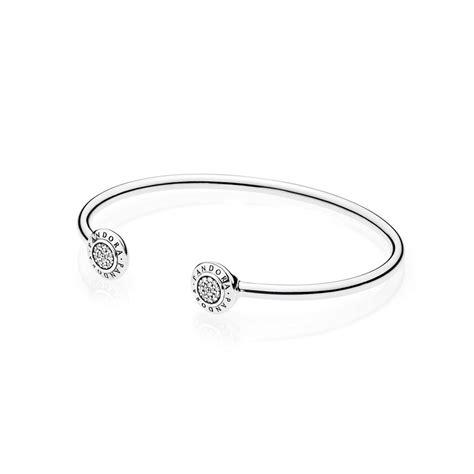 Pandora Bangle P 70 pandora signature open silver bangle 590528cz greed jewellery