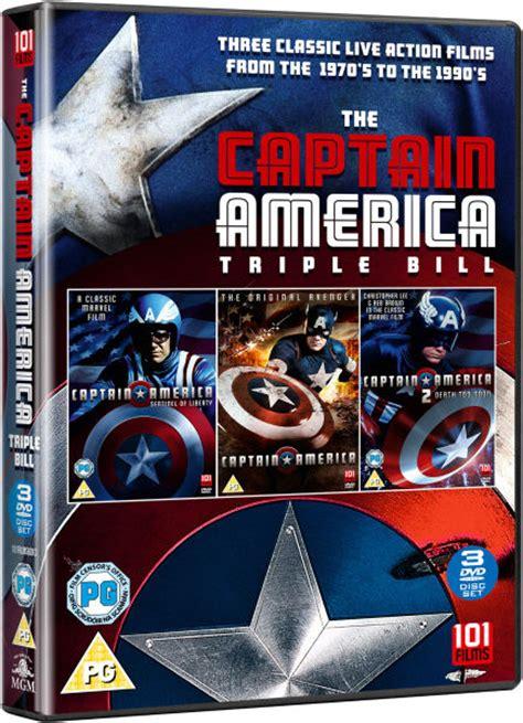 captain america box set dvd zavvi
