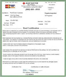 roof certification template stockton roof inspection certification in central ca