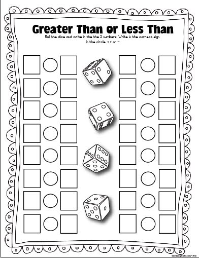 printable dice games for preschoolers free dice games the lesson plan diva