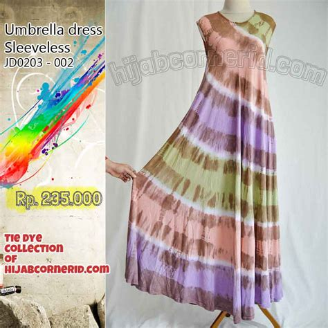 Tie Dye Gamis gamis tie dye cantik umbrella dress pelangi sleeveless