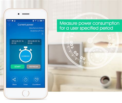 Sonoff Pow Remote Power Monitor Wifi Wireless Switch Smart Home Iot sonoff pow electricity usage consumption monitor switch