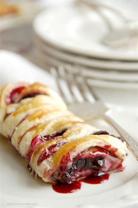 chocolate cherry cream cheese danishhow  braid pastry dough  kitchen mccabe