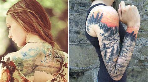 imagenes de paisajes tatuajes 30 maravillosos tatuajes de paisajes para quienes aman la